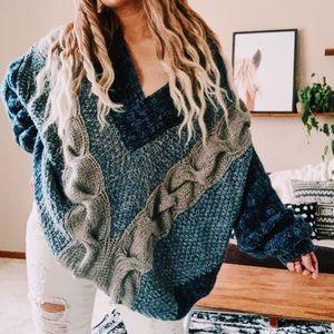 Vintage chunky oversized woven boho sweater